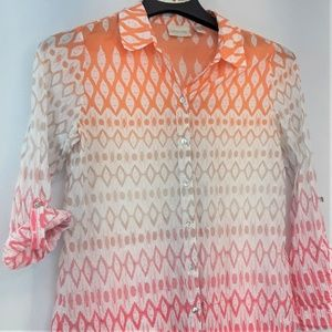 Chico's Tops - Chicos Button Up Blouse Chicos Size 1 Womens 6